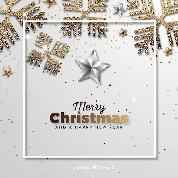 Kerst achtergrond Gratis Vector