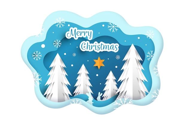 Kerst achtergrondthema Gratis Vector