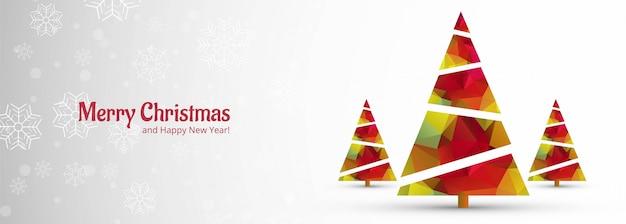 Kerst banner voor kerstboom Gratis Vector