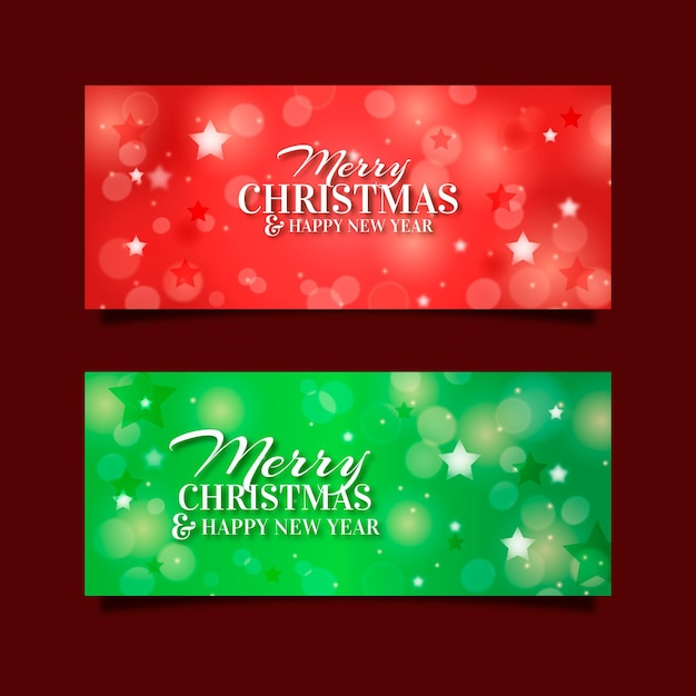 Kerst banners sjabloon Gratis Vector