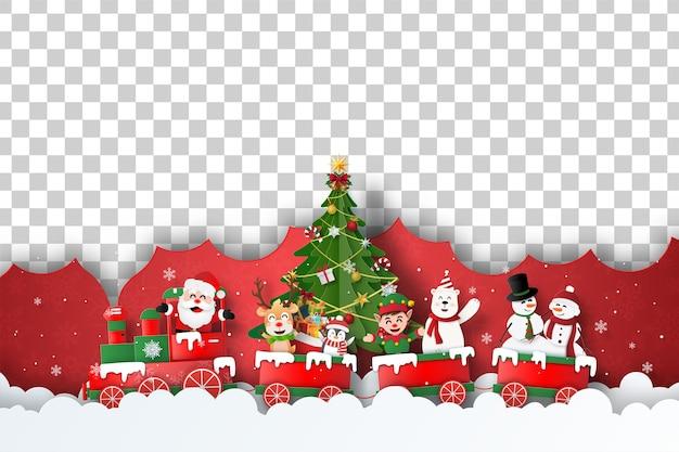 Kerst briefkaart van lege ruimte voor uw tekst of foto Premium Vector