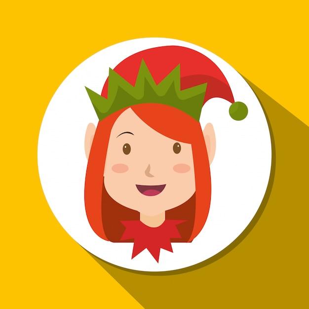 Kerst cartoon afbeelding Gratis Vector