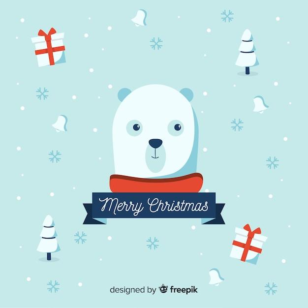 Kerst dieren Gratis Vector
