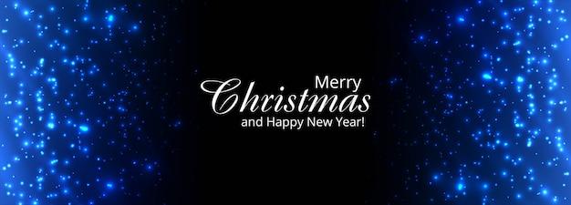 Kerst glanzende glitters sjabloon voor spandoek Gratis Vector
