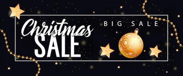Kerst grote verkoop belettering en snuisterij Gratis Vector
