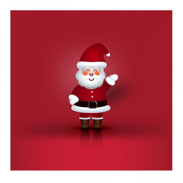Kerst karakter cartoon santa claus Premium Vector