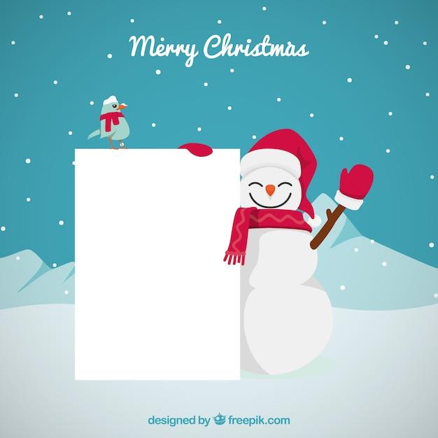 Kerst karakter met brief achtergrond Gratis Vector