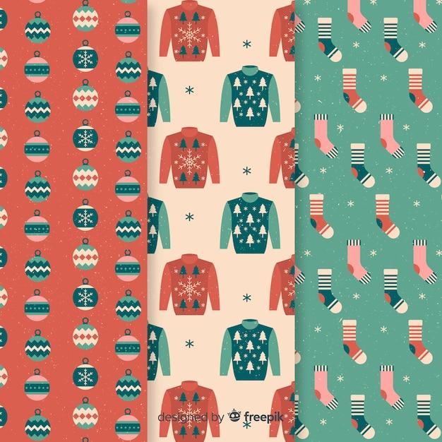 Kerst kleding patroon Gratis Vector