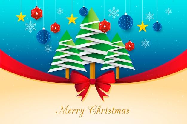 Kerst lint achtergrond Gratis Vector