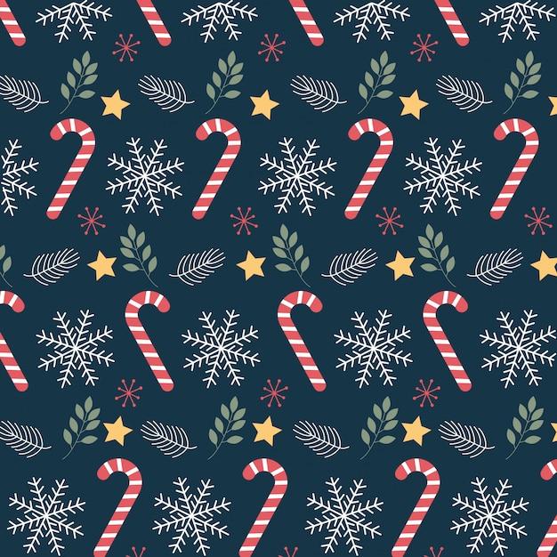 Kerst patroon achtergrond. illustratie Premium Vector