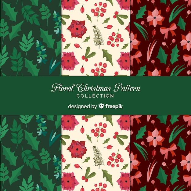 Kerst patroon collectie Gratis Vector
