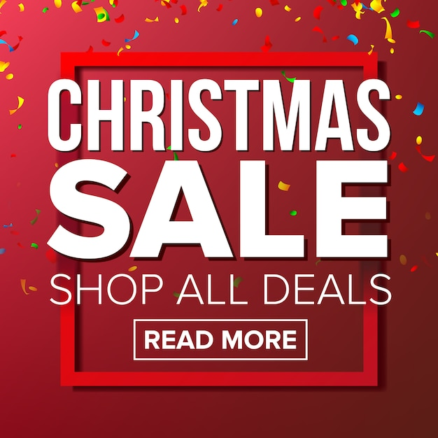 Kerst sale banner Premium Vector