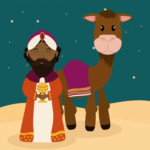 Kerst seizoen cartoon grafisch ontwerp Premium Vector