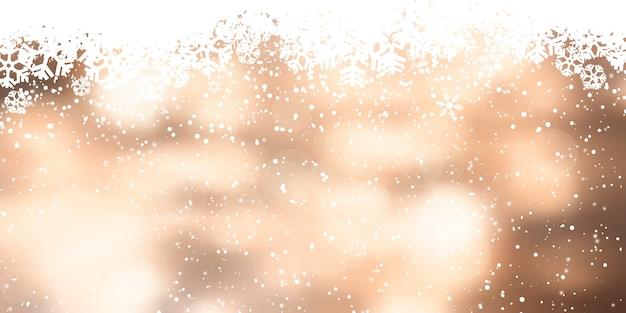 Kerst sneeuwvlok banner ontwerp Premium Vector