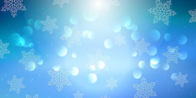 Kerst sneeuwvlok banner Gratis Vector