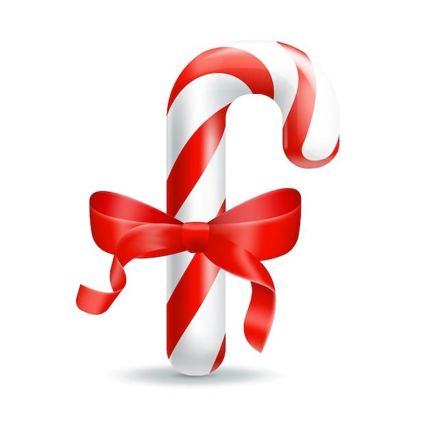 Kerst snoep. illustratie geïsoleerd op een witte achtergrond. Premium Vector
