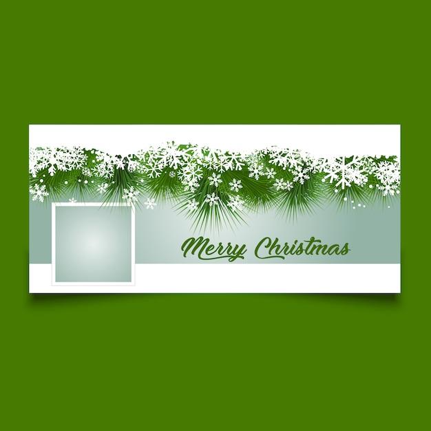 Kerst tijdlijn cover ontwerp Gratis Vector