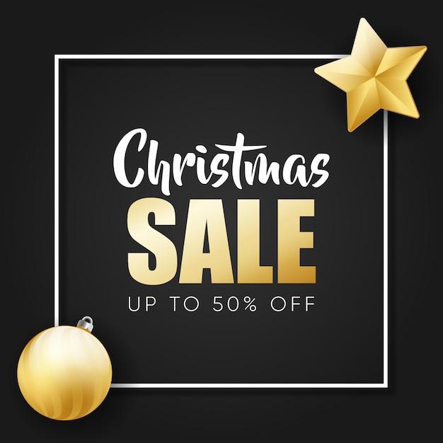 Kerst verkoop aanbieding banner Premium Vector