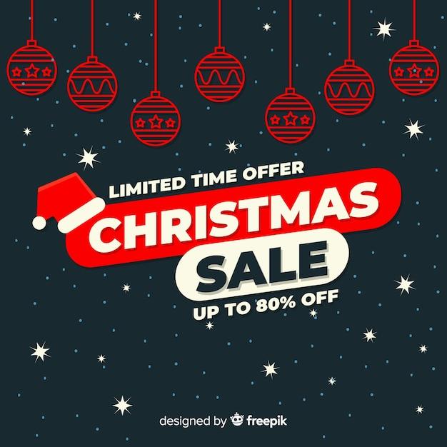 Kerst verkoop banner Gratis Vector