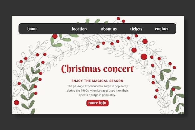 Kerst verkoop bestemmingspagina sjabloon Gratis Vector