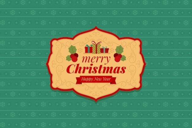 Kerst vintage achtergrondontwerp Gratis Vector
