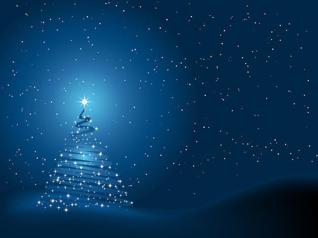 Kerstboom achtergrond Gratis Vector