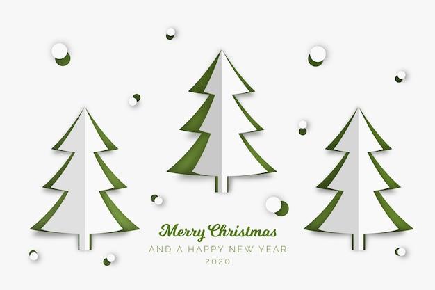 Kerstboomconcept in document stijl Gratis Vector