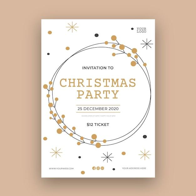 Kerstfeest folder sjabloon Gratis Vector