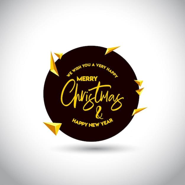 Kerstkaartontwerp met elegant ontwerp Gratis Vector