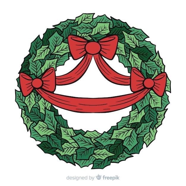 Kerstkrans Gratis Vector