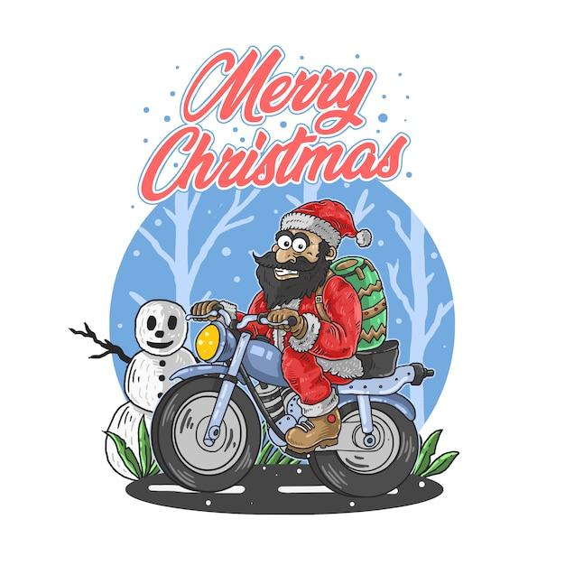 Kerstman vrolijke kerst illustratie vector Premium Vector