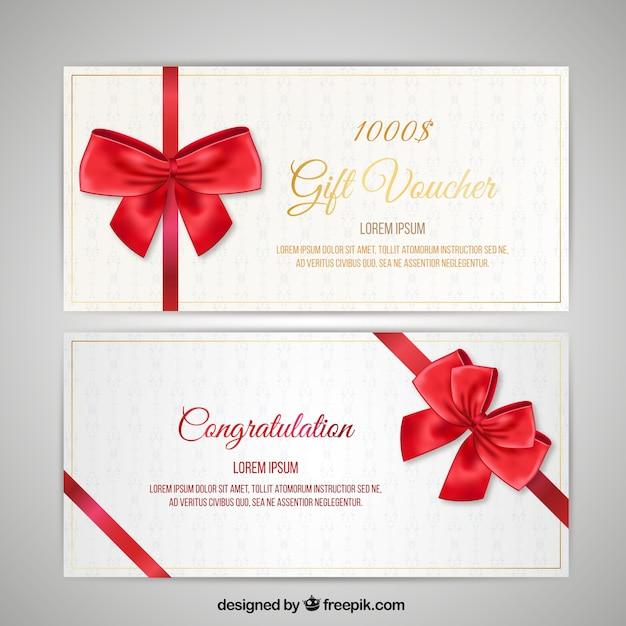 Kerstmis coupon pack Gratis Vector