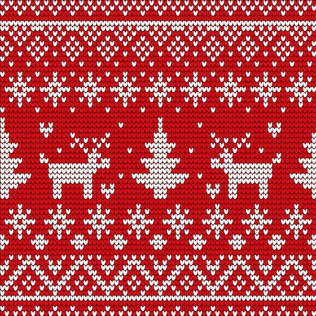 Kerstmis decoratief naadloos patroon op sweater, de winter Premium Vector