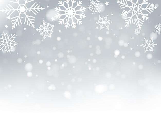 Kerstmis en new years blur bokeh Premium Vector