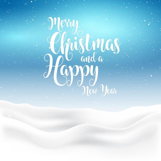 Citaten Kerstmis Nieuwjaar : Kerstmis en nieuwjaar achtergrond met besneeuwde landschap