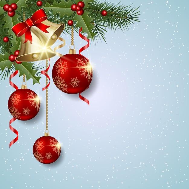 Kerstmis en nieuwjaar achtergrond Premium Vector