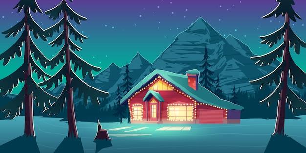 Kerstmis in het beeldverhaal vectorillustratie van canada Gratis Vector