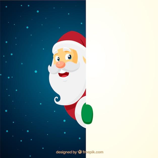 Kerstmis kerstman karakter met leeg teken Gratis Vector