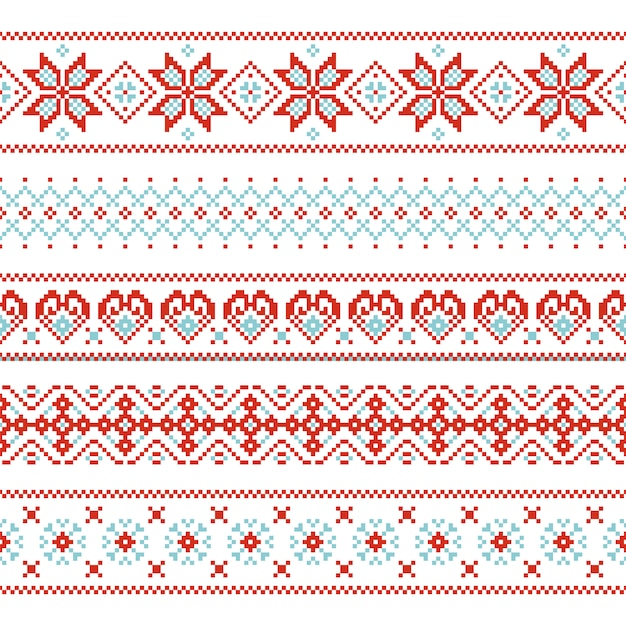 Kerstmis naadloos patroon eindeloze textuur voor behang retro stijl. Premium Vector