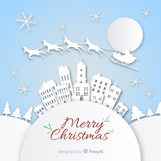 Kerststad Gratis Vector