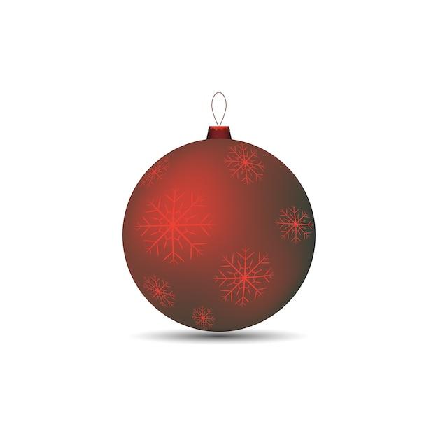 Kerststuk speelgoed bal voor heldere boom Premium Vector