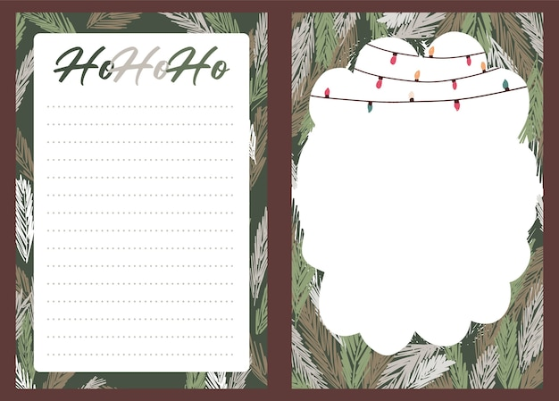 Kerstvakantie feest collectie set sticker, dagboek, notities, Premium Vector
