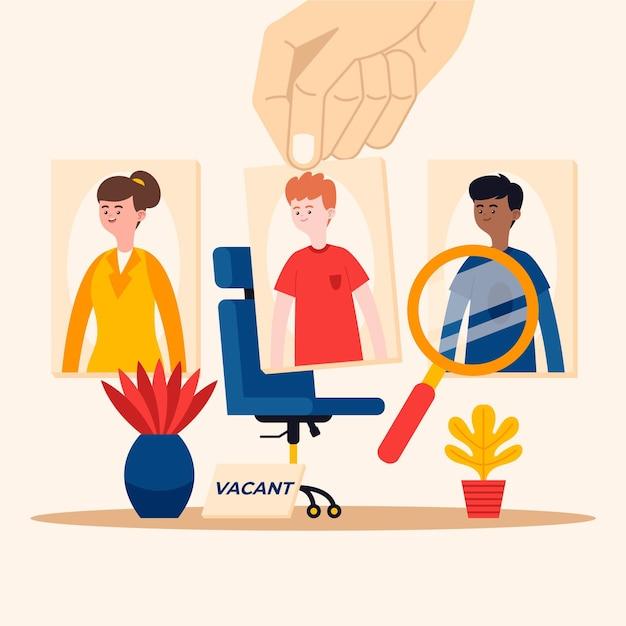Keuze van het werknemersconcept Gratis Vector