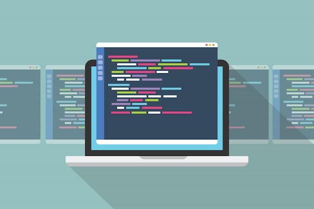 Kies het beste concept van de programmeertaal Premium Vector
