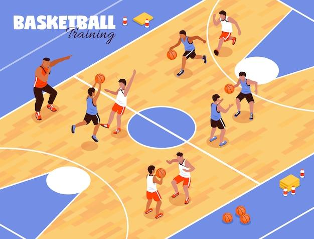 Kinderen basketbal team achtergrond Gratis Vector