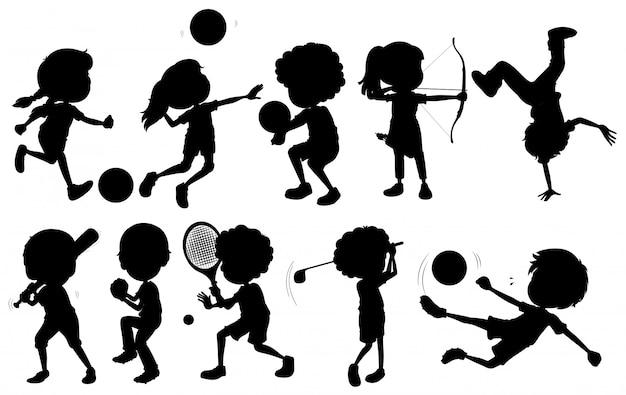 Kinderen die verschillende sporten beoefenen Gratis Vector