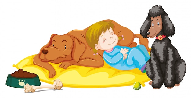 Kinderen met dieren Gratis Vector