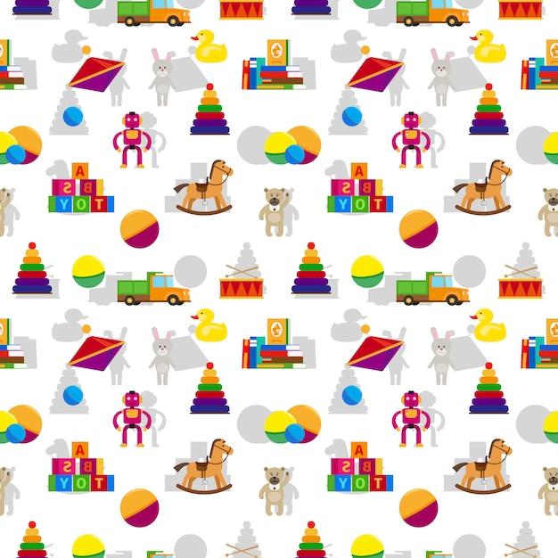 Kinderen speelgoed naadloze patroon Premium Vector