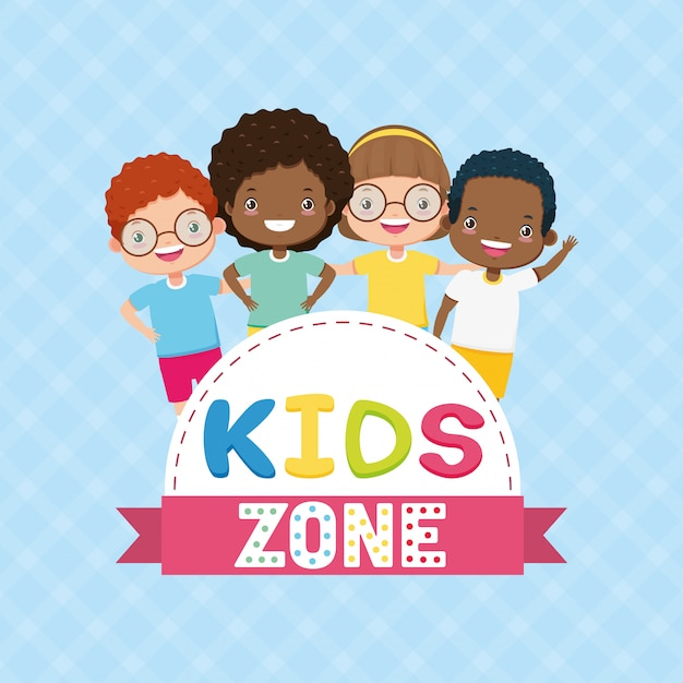 Kinderen zone achtergrond Gratis Vector