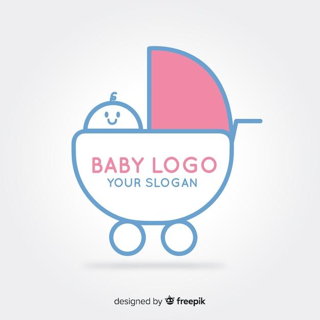 Kinderwagen logo Gratis Vector